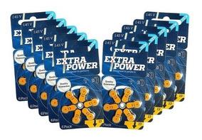 120 + 1 Baterias A13 Pr48 Aparelho Auditivo - Extra Power