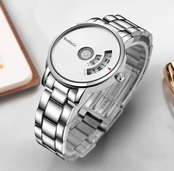 Relógio De Pulso Masculino Criativo Luxo Womage Quartz