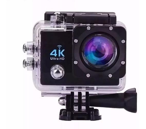 Mini Camera 4k Filmadora Wifi Suporte Bike Moto Mergulho