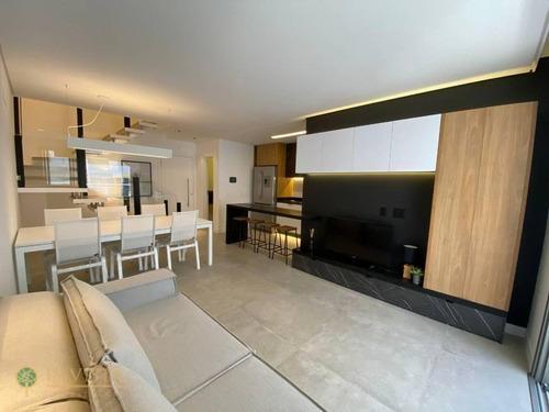 Imagem 1 de 20 de Apartamento Finamente Decorado, A 80 Metros Do Mar. - Ap5760