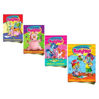 Passatempos Divertidos Brincar E Aprender Coleção 4 Volumes