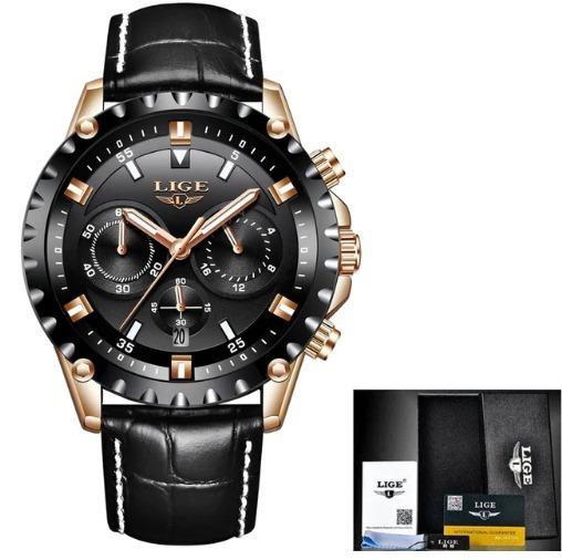 Relógio Masculino Lige 9832 Luxo Original - Frete Grátis