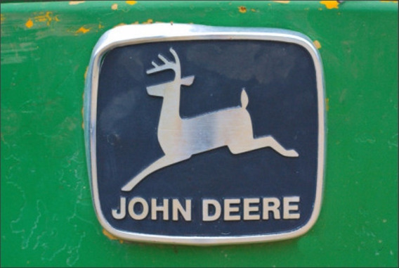 Placa De Plastico - John Deere Trator Vintage