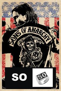 Anel Série Sons Of Anarchy - So - Prateado