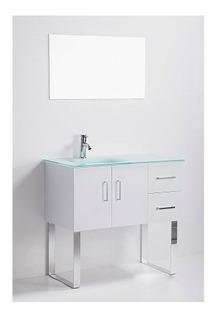 Gabinete Baño Lavabo Minimalista Espejo Gb 2114 85 Gravita