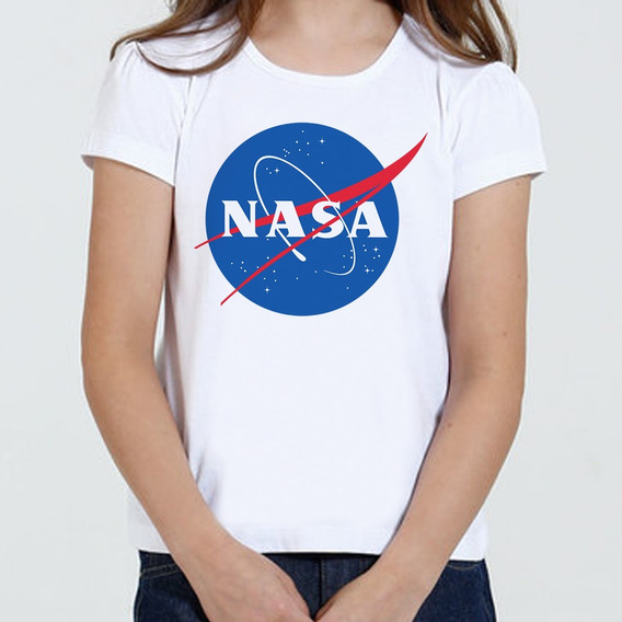 Camiseta Camisa Infantil Feminina - Nasa Logo
