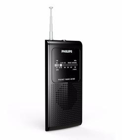 Rádio Portátil Pocket Philips Am Fm Ae1500/37 - Preto!