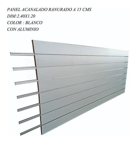 Lamina De Mdf Acanalada Con Perfil De Aluminio