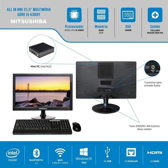 All In One 21,5 Multi Core I5 4300y 8g Ssd128g Windows Pro