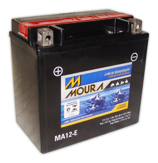 Bateria Moto Ma12-e Moura 12ah Buell Blast Kasinski Comet