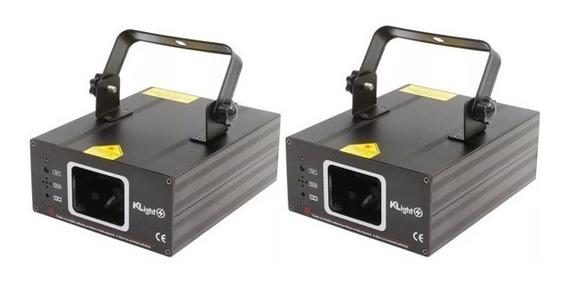 Kit 2 Laser Show Verde 80mw Raio De Luz Efeitos Dj Evento