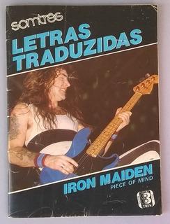 Iron Maiden - Revista Bolso Letras Traduzidas Piece Of Mind