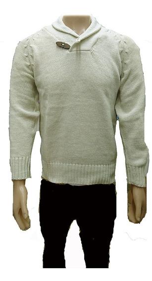 Sweater Hombre Cuello Smoking Pullover Cuello Bote, Local