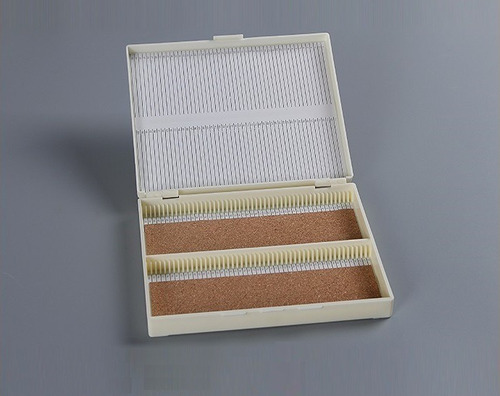 Imagen 1 de 8 de Caja Histologica Plastica Para 50 Preparados Portaobjetos