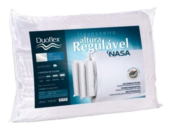Travesseiro Duoflex Regulável Nasa Visco Rn1100 50x70