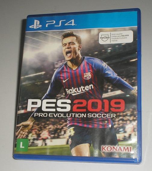 Pro Evolution Soccer 2019 Ps4 Mídia Física Usado Bom Estado