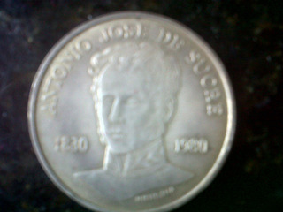Moneda De 150 Aniv. Muerte De Antonio Jose De Sucre.