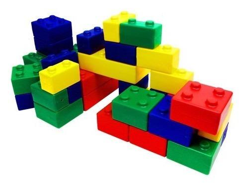 Imagen 1 de 5 de Bloques Juego De Encastre Didáctico Bloques De Construcciión