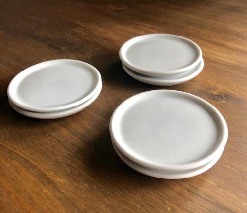 Kit 10 Porta-copos De Porcelana