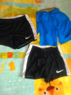Lote 3 Short Nike Xs Niño