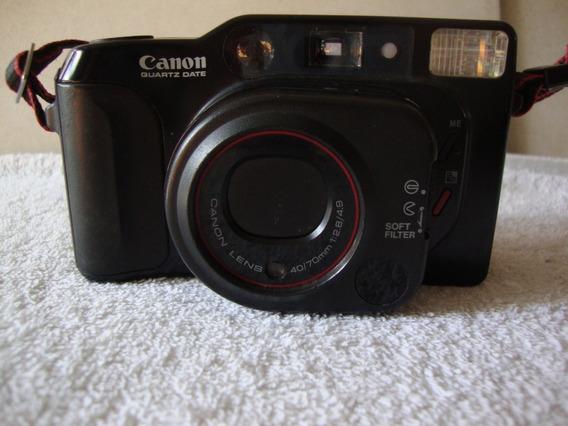 Máquina Fotográfica Antiga Marca Canon Quartz Date .