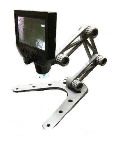 Imagem 1 de 7 de Suporte Articulado Base Microscópio Usb Digital Modular