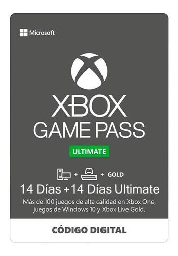 Imagen 1 de 1 de Xbox Game Pass Ultimate 1 Mes De Gold Y Gamepass Zugars Game