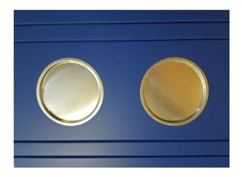 Imagem 1 de 2 de Kit Suporte Esteira Bandeja Para Braço Sofá  Azul  Promoção