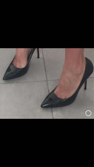 Stilettos De Charol - Muy Poco Uso Talle 36 1/2