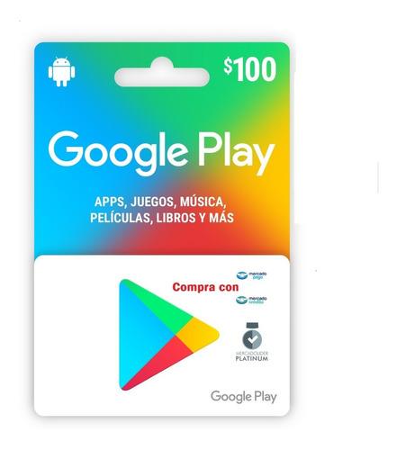Google Play $100 Pesos, Entrega Full