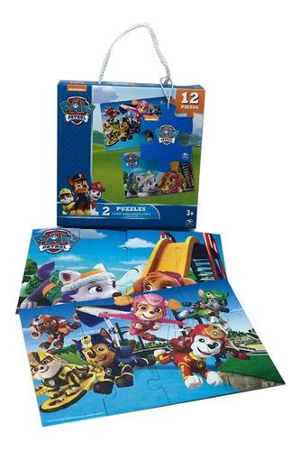 2 Puzzle Rompecabezas Paw Patrol 12 Piezas Delicias3