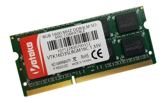 Memória Notebook 8gb Ddr3l 1600 Mhz Dell Mac Hp Acer