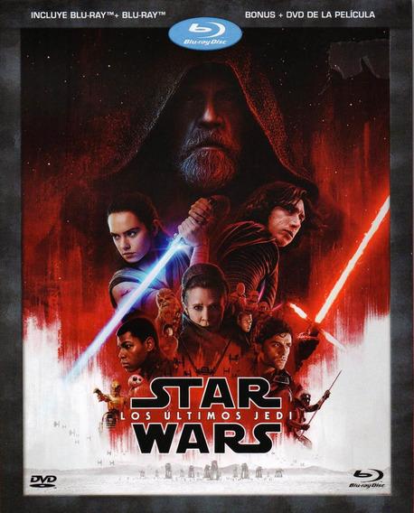 Star Wars Episodio 8 Los Ultimos Jedi Blu-ray + Dvd + Bonus