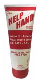 Creme P/ Proteção Mãos Help Hand 200g Henlau (luva Química)