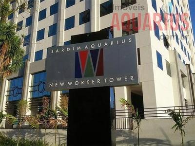 New Worker Tower, 43 M2, 2 Vagas, Com Piso E Ar Condicionado! - Sa0073