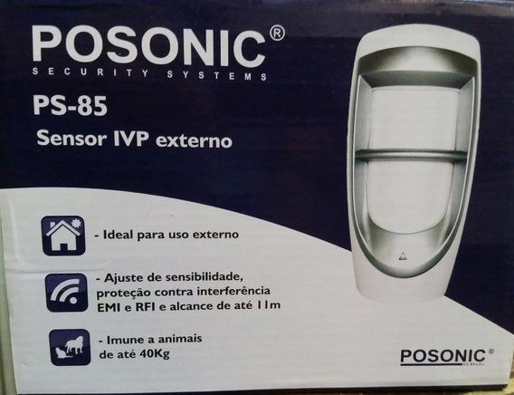 Sensor Presença Infravermelho Duplo Externo- Posonic-ps-85