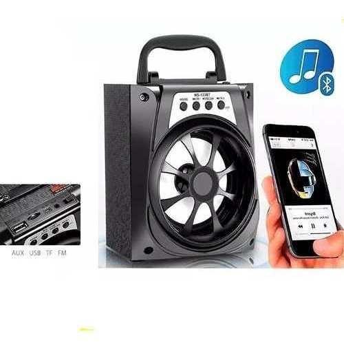 Caixa Caixinha Som Portatil Bluetooth Mp3 Recarregavel Ms133