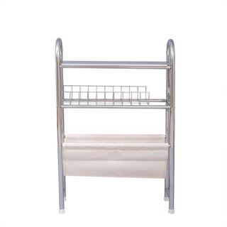 Mueble Para Baño Con Revistero Y Portarrollo Tubular Cromado