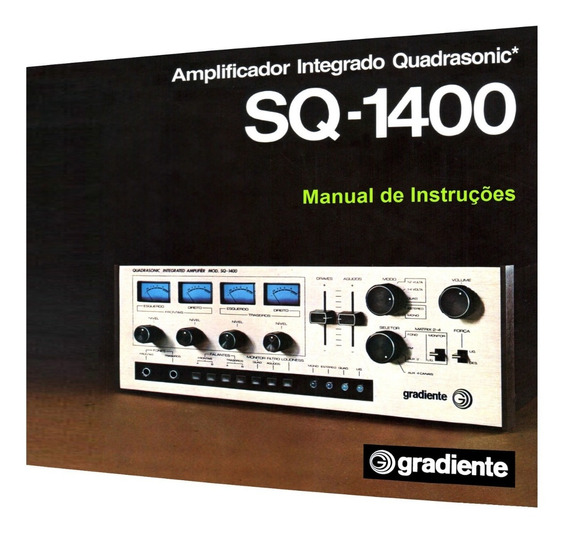 Manual Do Amplificador Gradiente Sq-1400 (cópia Colorida)