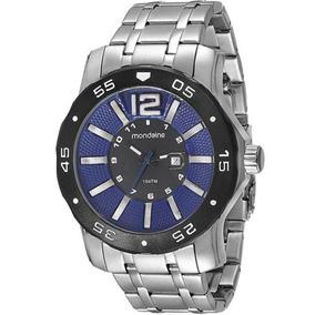 Relógio Masculino Mondaine 94851g0mvna2 57mm Prata