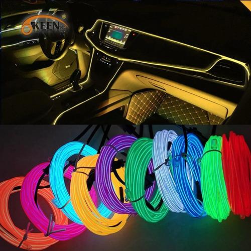 Luz De Tablero Neon Universal 4m Para Auto O Camioneta 12v