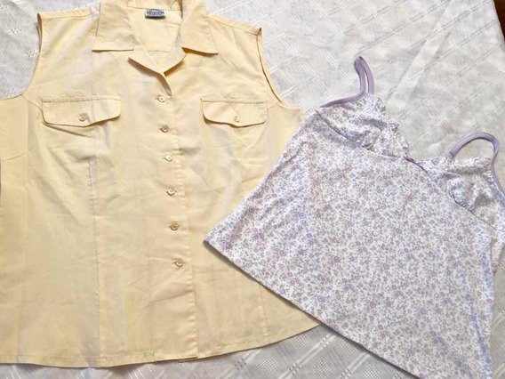Lote Mujer Camisa S/mangas Ted Bodin Y Musculosa ALG Large