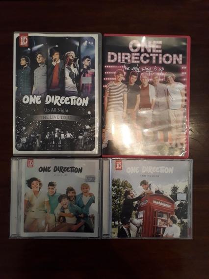 Lote One Direction Dos Dvds Y Dos Cds Originales.