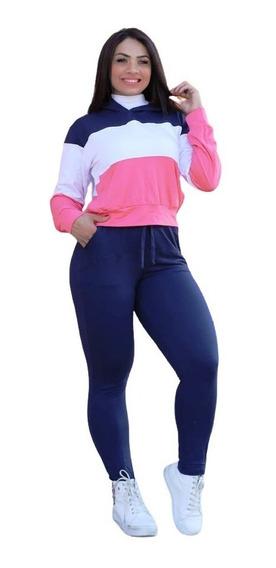 Conjunto Feminino Moletom Moletinho Calca E Blusa Kit Ou Uni