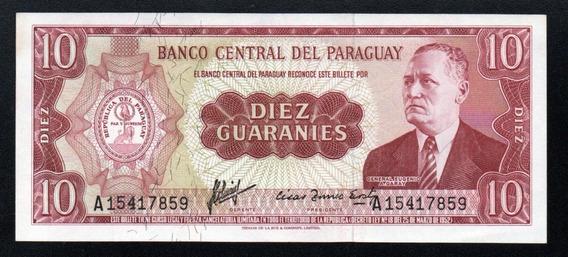 Paraguay Billete 10 Guaranies Año 1952 P#196