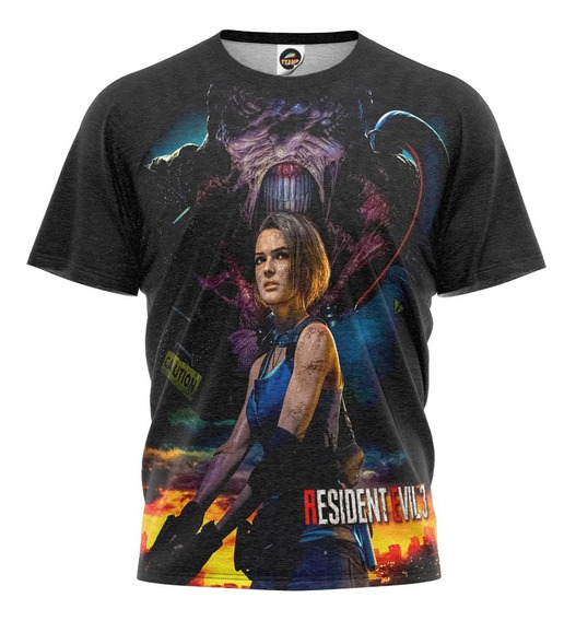 Camiseta Resident Evil 3 Remake Camisa Geek Jogo Mod 004