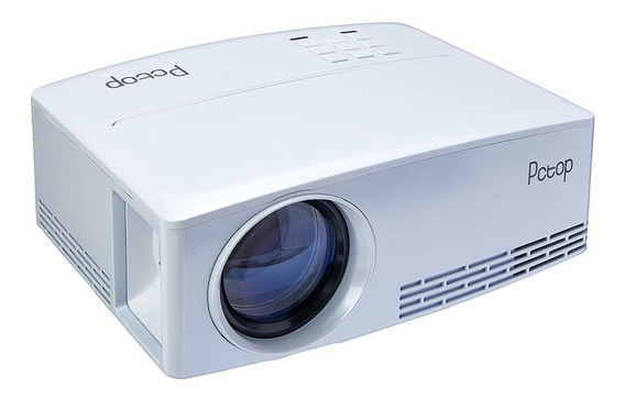 Mini Projetor Pctop Gp80 2000 Lumens Branco 220v