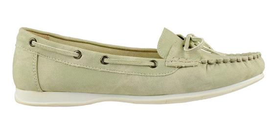 Zapato Mocasín Korium Jeans Con Moña - Toto