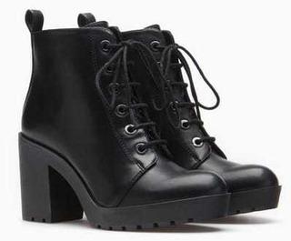 Botines Stradivarious Zapato Tacones Mujer (tenis Plataforma