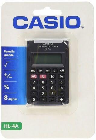 Calculadora Casio Hl-4a Tam.5.6x8.7cm Com Nfe E Garantia